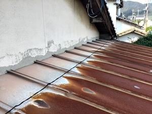 塩害による屋根・雨樋交換